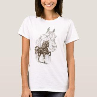 Arte del caballo de Morgan Playera