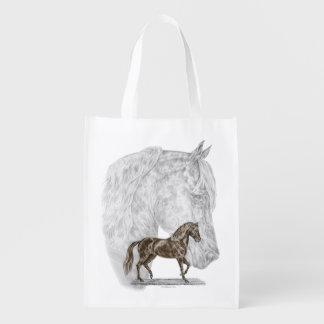 Arte del caballo de Paso Fino Bolsas Para La Compra
