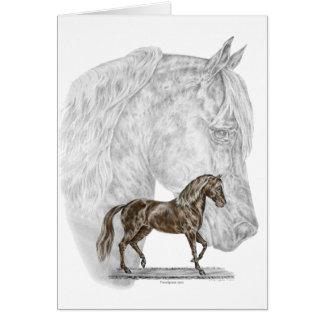 Arte del caballo de Paso Fino Tarjeta De Felicitación