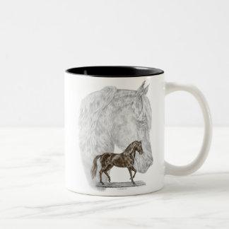 Arte del caballo de Paso Fino Taza Dos Tonos