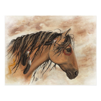 Arte del caballo del mustango del nativo americano postales