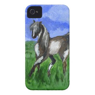 Arte del caballo del pinto del soñador iPhone 4 funda