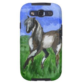 Arte del caballo del pinto del soñador galaxy s3 carcasa