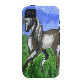 Arte del caballo del pinto del soñador Case-Mate iPhone 4 carcasa
