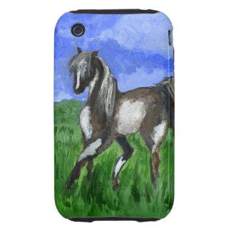 Arte del caballo del pinto del soñador iPhone 3 tough protector