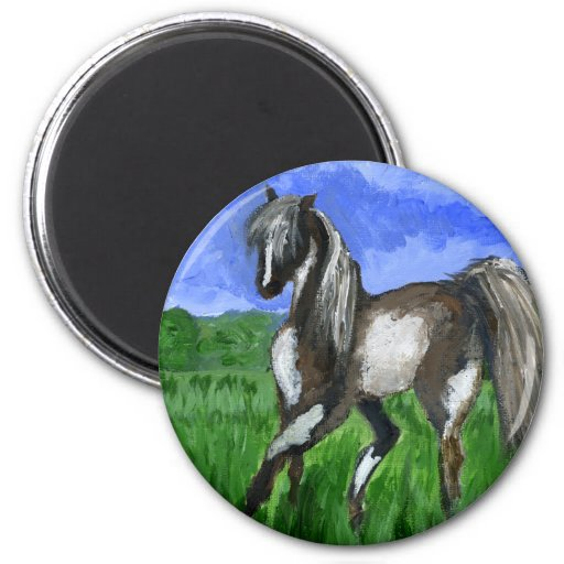 Arte del caballo del pinto del soñador imán de nevera