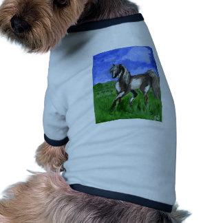 Arte del caballo del pinto del soñador prenda mascota