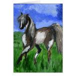 Arte del caballo del pinto del soñador tarjeta de felicitación