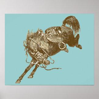 Arte del caballo del vintage póster