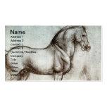 Arte del caballo del vintage tarjetas de visita