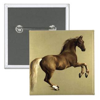 Arte del caballo del vintage:  Whistlejacket Pin Cuadrada 5 Cm