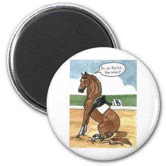 Arte del caballo EN EL PEDAZO ahora qué Imán Redondo 5 Cm