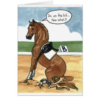 Arte del caballo EN EL PEDAZO ahora qué Tarjeta