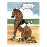 Arte del caballo EN EL PEDAZO ahora qué Tarjeta Postal