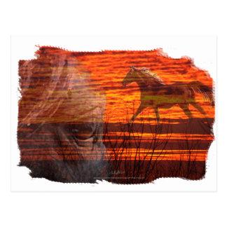 Arte del caballo:   Incendio fuera de control Tarjetas Postales