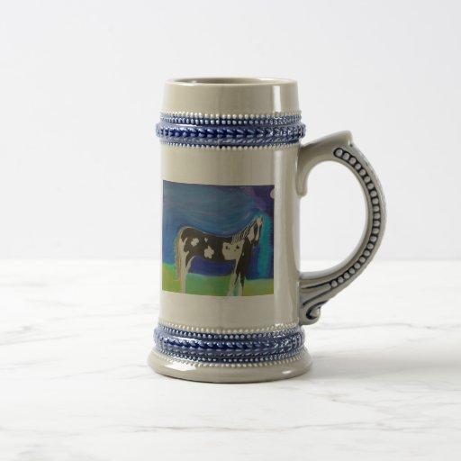 arte del caballo jarra de cerveza