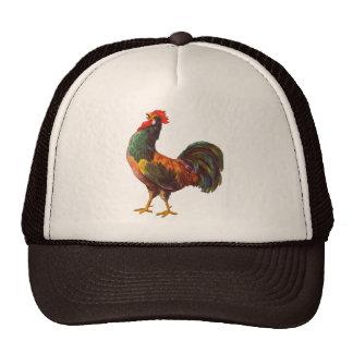 Arte del cajón de la cocina del vintage del gallo gorras de camionero