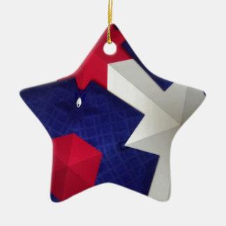 Arte del caleidoscopio adorno navideño de cerámica en forma de estrella