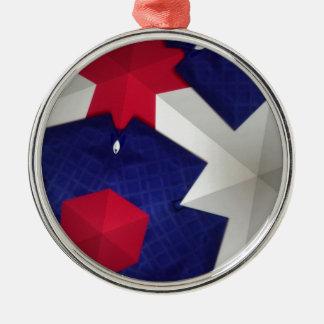 Arte del caleidoscopio adorno navideño redondo de metal