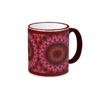 Arte del caleidoscopio taza de dos colores