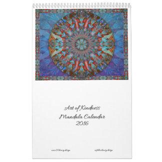 Arte del calendario 2016 de la mandala de la