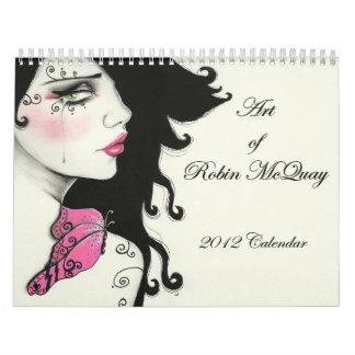 Arte del calendario de McQuay 2012 del petirrojo