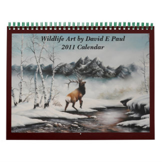 Arte del calendario del arte de la fauna de David