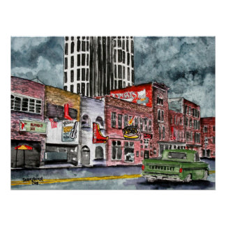 arte del capital de la música country de Nashville Posters