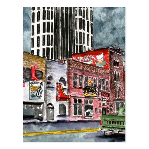 arte del capital de la música country de Nashville Tarjetas Postales