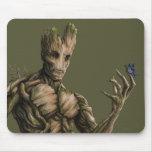 Arte del carácter de Groot Alfombrilla De Ratón
