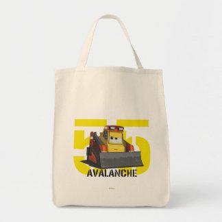 Arte del carácter de la avalancha bolsa tela para la compra