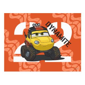 Arte del carácter de la dinamita tarjeta postal