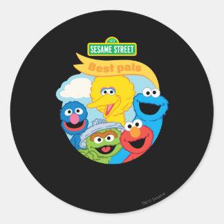 Arte del carácter del Sesame Street Pegatina Redonda