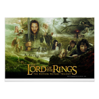 Arte del cartel de película de LOTR