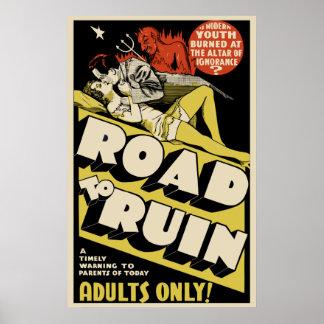 """Arte del cartel de película del vintage - """"camino  póster"""