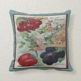 Arte del catálogo de semilla del vintage cojín