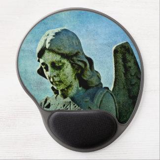 Arte del cementerio del ángel de guarda alfombrillas de raton con gel