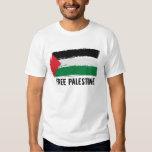 Arte del cepillo de la bandera de Palestina - Playera