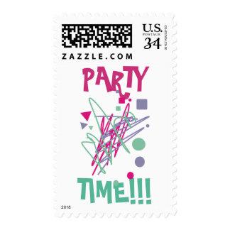 arte del chapoteo del vintage del tiempo del sello