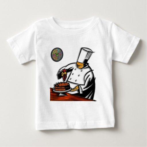 Arte del chef de repostería camisetas