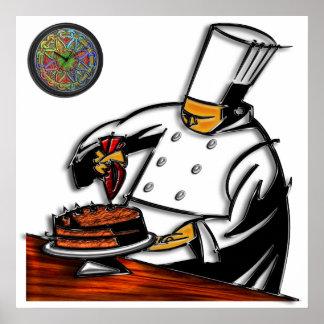 Arte del chef de repostería impresiones