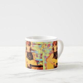arte del chica del folksinger tazitas espresso