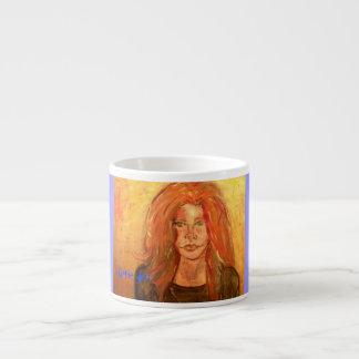 arte del chica del hippie tazas espresso