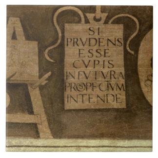 """Arte, """"del ciclo de las humanidades (fresco) azulejo cuadrado grande"""