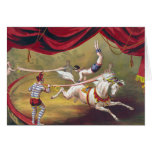 Arte del circo del vintage felicitacion