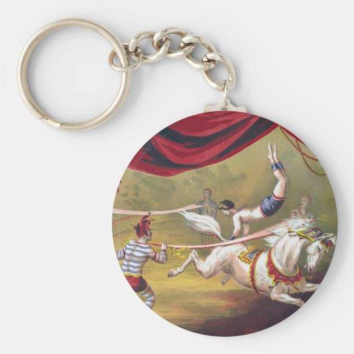 Arte del circo del vintage llavero