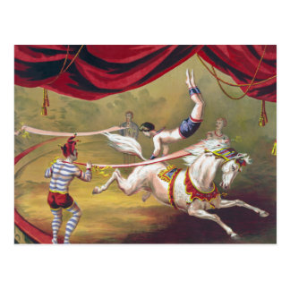 Arte del circo del vintage tarjetas postales