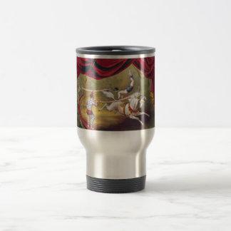 Arte del circo del vintage taza de viaje de acero inoxidable