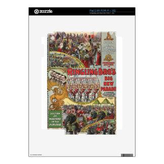 arte del circo iPad 2 calcomanía