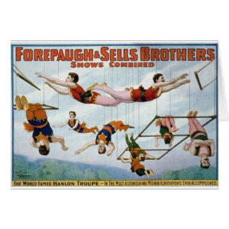 arte del circo tarjeta de felicitación